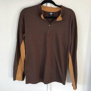 PRANA quarter Zip long sleeved collared XL shirt